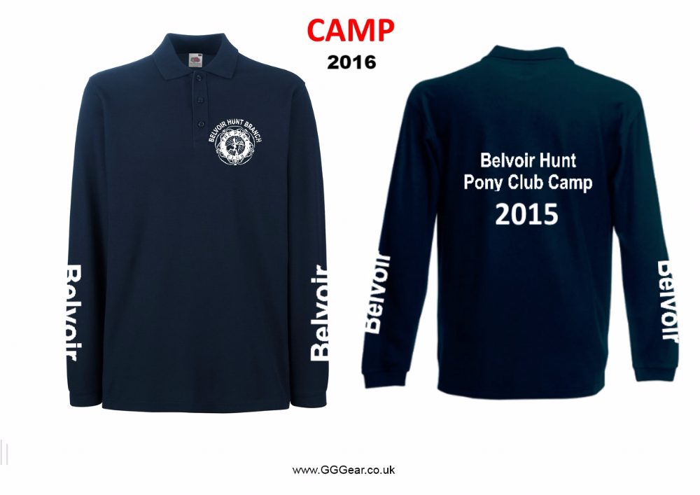 CHILD  Belvoir 2018 CAMP Pony Club  Long Sleeve  Navy Polo